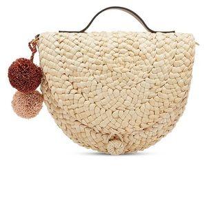 Fossil Half Moon Faye Straw Bag